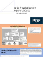 criterios de hospitalizacion pie diabetico