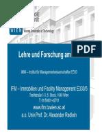 2-Praesentation IMV Institut Für Managementwissenschafen SS2016