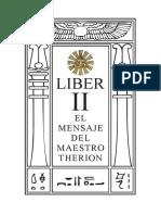 Sp 0002 Liber II El Mensaje Del Maestro Therion