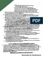 Phys4302 Exam II Spring 2013