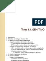 Tema 4.4. Genitivo