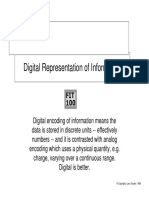 Digital Representation of Data