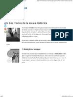 5. Los Modos de La Escala Diatónica (I)_ El Oído Armónico