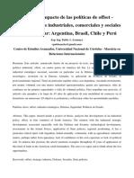 Publicación OFFSET-Compensaciones Industriales, Comerciales y Sociales en Cono Sur - Esp. Ing. Pablo a. Aramayo