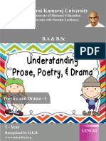 Poetry and Drama - I