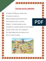 Acróstico Del Día Del Campesino creado por milton vilela tinedo