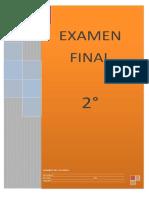 Examen Final Segundo Grado