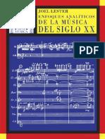 Enfoques Analiticos de La Música Del Siglo XX - Joel Lester