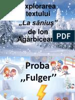 """""""La săniuș"""" (1)"""