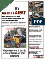 wine industry safety alert poster harvester large image