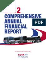 2012 (Verified) COTA Comprehensive Annual Financial Report 2012