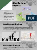 2 - Localización óptima