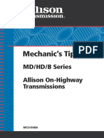 Mechanics Tips Md Hd b Series Allison on Highway Transmissions