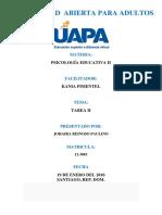 Psicología Educativa II (Tarea II)