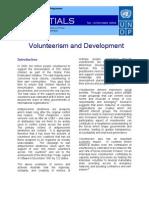 Volunteerism and Development