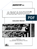 Arkanoid, instruction manual
