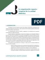 La organización espaciotemporal de la unidad tema didáctica