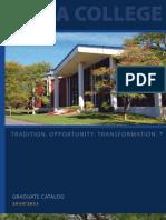 Utica College Graduate Catalog 2010-11