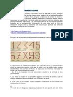 Origen de Letras y Números