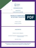 Temario Prueba de Competencias de Lectura y Escritura 2018 PDF 230 Kb