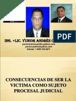 Consecuencias Ser Victima Como Sujeto Procesal Judicial