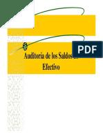 Auditoría de Los Saldos de Efectivo