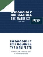 Runyon Joel - Impossible the Manifesto