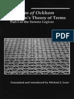 William of Ockham, Michael J. Loux Summa Logicae Theory of Terms Pt. 1.pdf