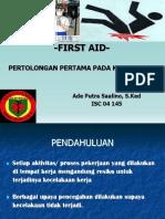 Presentasi First Aid TBM Ischiadicus(1)