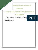 Ejemplo de Algoritmo Pseudocodigo y Flujograma