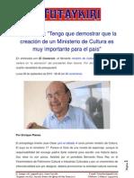 Entrevista y declaraciones, Ministro Juan Ossio.