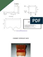 Woodworking Plans - Cherry Jewelry Box