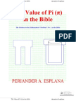 """The Value of """"Pi"""" in the Bible by Periander A. Esplana"""