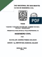 Diseño y Rehabillitaicon de Cmaino Vecinal