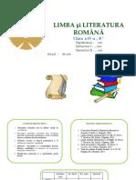 L. Română Cl. a IV-A