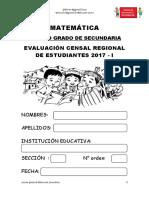 4° Secundaria - Evaluacion Matematica