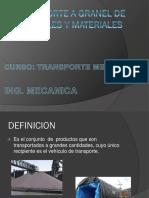Transporte a Granel de Minerales y Materiales (victor terrones vasquez)