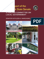 2016 Report of the NYS Senate Standing Committee on Local Government - Senator Marchione, Chair