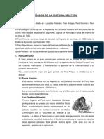 Períodos de La Historia Del Peru