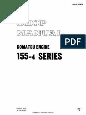 komatsu-155-4-series-workshop-manual-ab pdf | Diesel Engine