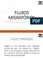 FLUXOS MIGRATÓRIOS