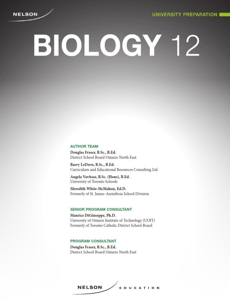 nelson biology 12 pdf | Omega 3 Fatty Acid | Biochemistry