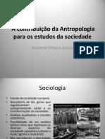 A Contribuição Da Antropologia Nos Estudos Da Sociedade