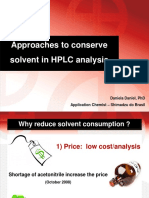 LC Approaches to Conserve Solvent in HPLC Analysis