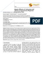Comparing the Analgesic Effects of Lidocaine and Lidocaine With Ketamine in Intravenous Regional Anesthesia on Postoperative Pain