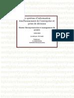 Le Système d'Information Fonctionnement de l'Entreprise Et Prise de Décision ( ELFAKIR_YAZOUGH)