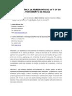 Limpieza química de membranas de MF y UF en el tratamiento de aguas