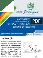 Estatística e Probabilidades. Alguns Aspetos de Linguagem