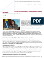 Conectas Sugere 7 Questões Sobre Direitos Humanos à Nova Embaixadora Do Brasil Em Genebra