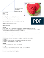 Amigurumi Watermelon Slice